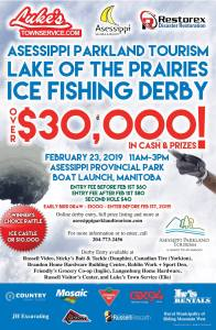 Ice Fishing Derby poster for LOTP fishing derby
